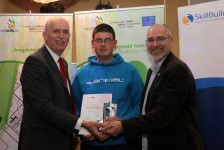 Robert Goodman wins the Welsh Regional Skills Competition in Bricklaying